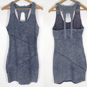 FREE PEOPLE | denim-ish fitted mini dress 0053